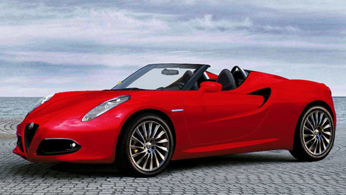 Alfa Romeo 4C Spider in the wings  Car News  CarsGuide