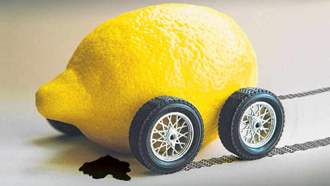 buying a lemon sucks getting a crook new car is as frustrating as the lack of legal recompense in australia