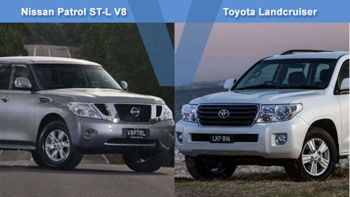 Nissan Patrol ST-L V8 vs Toyota Land Cruiser 200GXL Review | CarsGuide