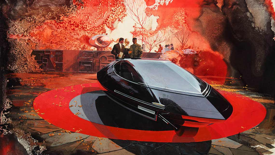 1960 Syd Mead Gyroscopically Stabilised Two-wheel Car