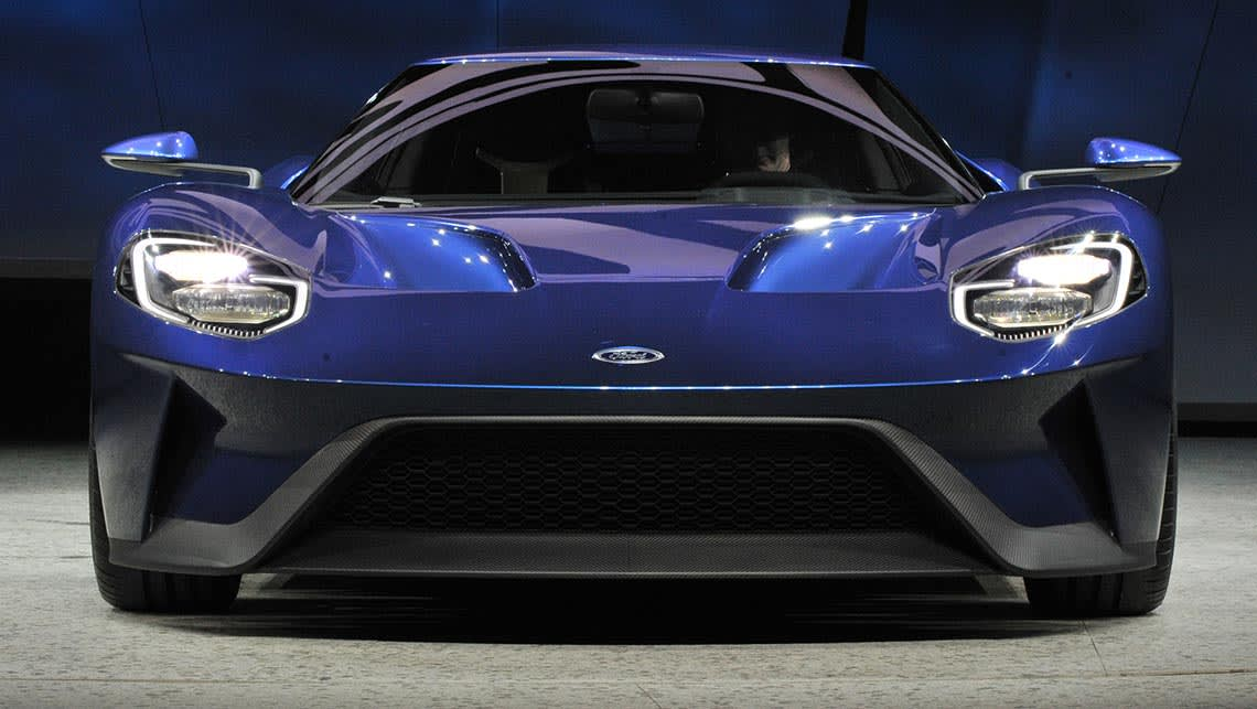 Ford Gt Supercar Unveiled At  Detroit Motor Show