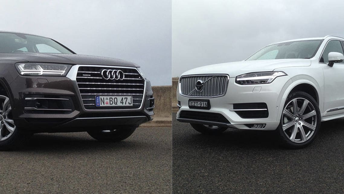 audi q7 vs volvo xc90 review carsguide. Black Bedroom Furniture Sets. Home Design Ideas
