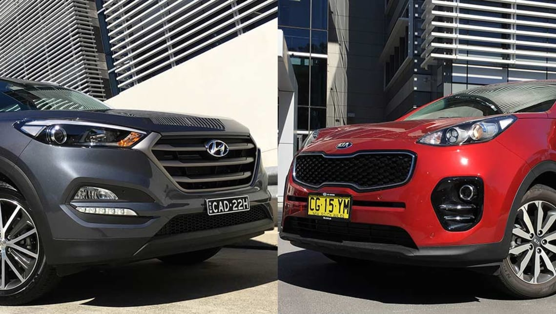 Hyundai Tucson Vs Kia Sportage Review Carsguide