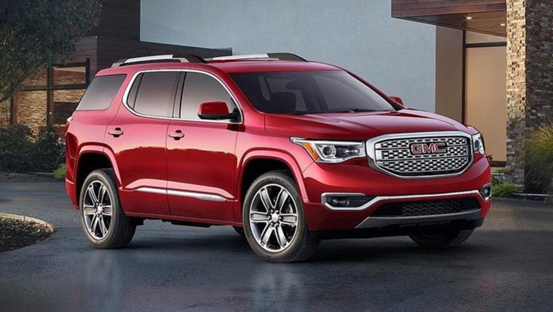 The new US-made Holden Acadia seven-seat SUV will go on sale in 2018.