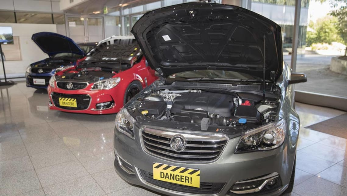 When tested, the fake Holden Commodore bonnets suffered catastrophic failures.