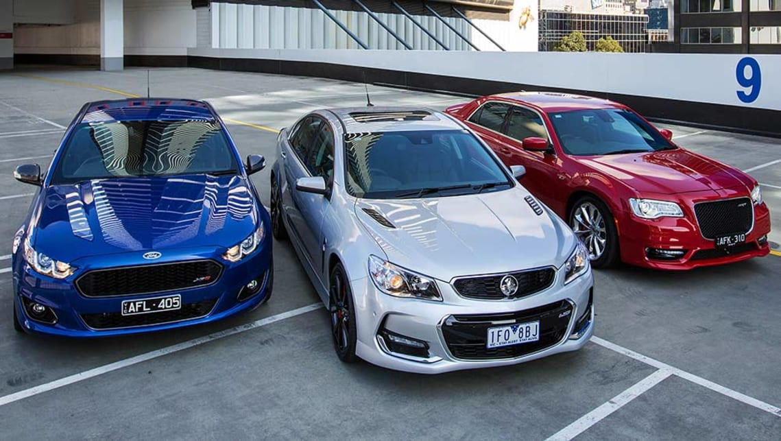 2015 Holden Commodore Ss V Redline Chrysler 300 Srt And Ford Falcon Xr8 Review Carsguide
