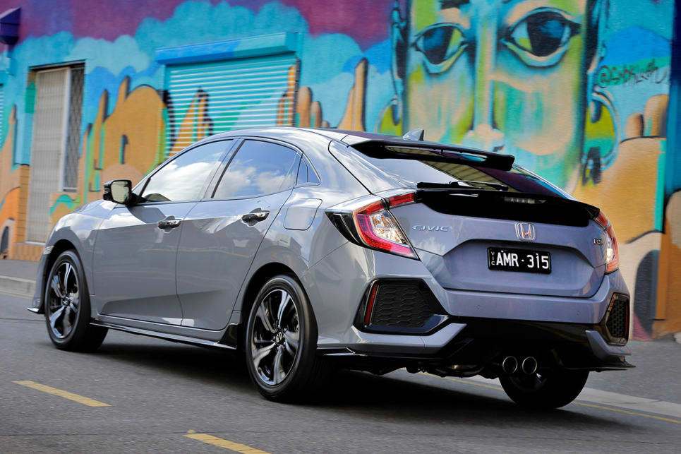 honda civic rs 2017 review snapshot carsguide