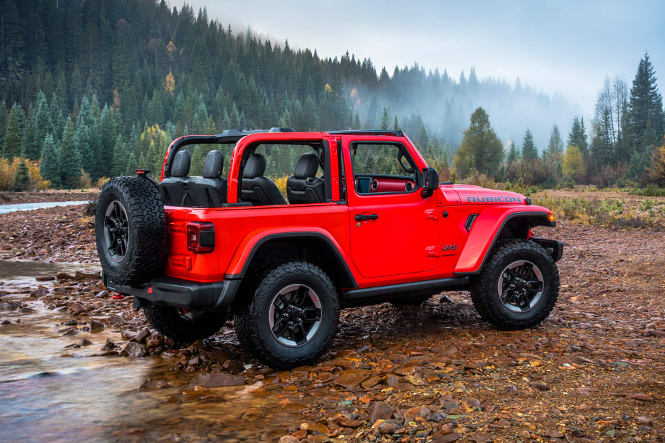 "The Rubicon is more visually distinguished than ever, sitting taller thanks to bigger 33"" tyres."