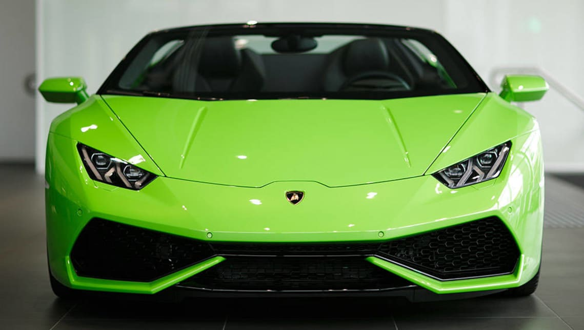 on colormatched bumper aftermarket green adv neon lime gallery wheels lamborghini rolling by front photo price huracan