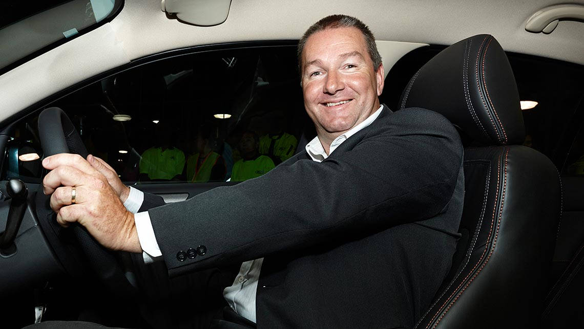 Owner of the last ever Ford Falcon GT sedan Steven Clarke with his new car. 8 October 2014