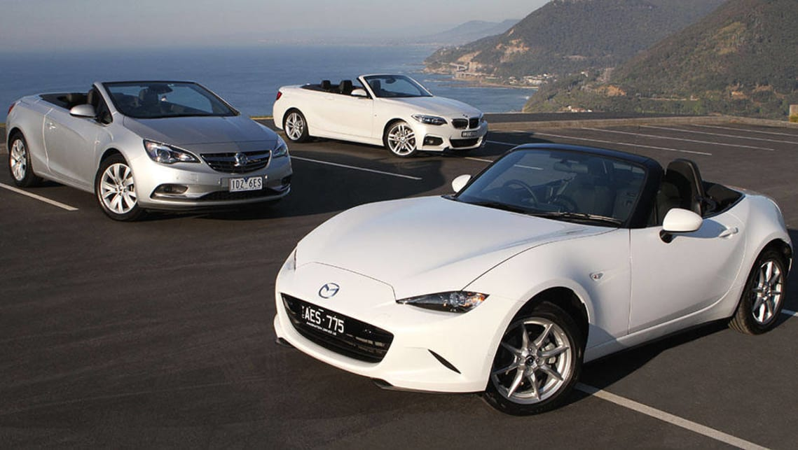 Mazda MX 5, Holden Cascada And BMW 2 Series Convertible 2015 Review |  CarsGuide
