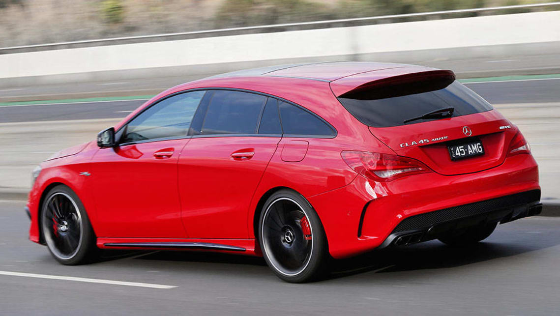 2015 mercedes benz cla 45 amg 4matic shooting brake review road test carsguide