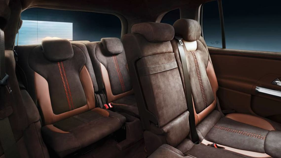 "The car's two forward-facing third-row seats can be folded flat into the boot floor, with Mercedes-Benz claiming they ""offer comfortable seating for two medium-sized occupants."""