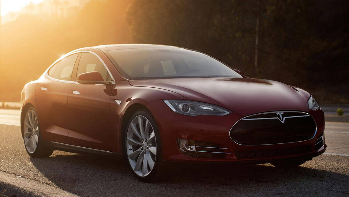 The regular Tesla Model S P85