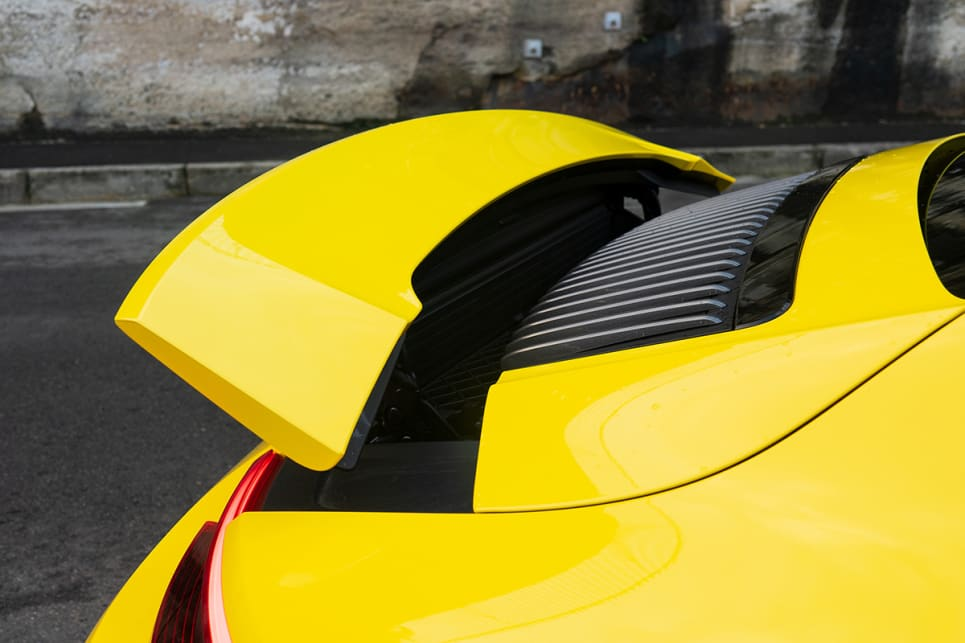 Like all Carreras, the T scores the active rear spoiler.