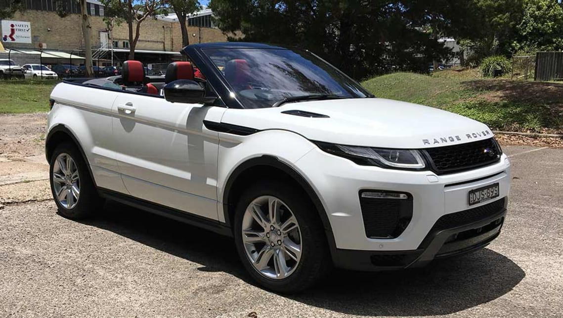 Range Rover Jeep >> Land Rover Range Rover Evoque HSE Dynamic Si4 convertible 2017 review | CarsGuide