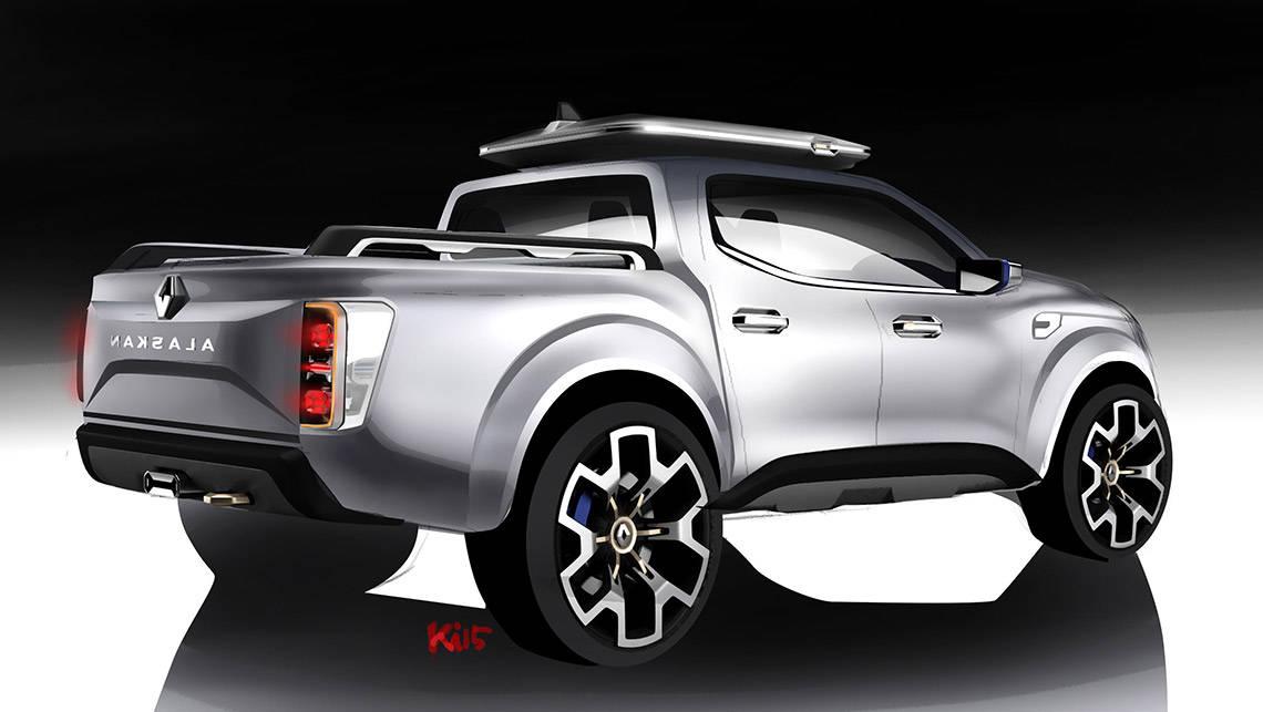 renault alaskan ute concept revealed video car news. Black Bedroom Furniture Sets. Home Design Ideas