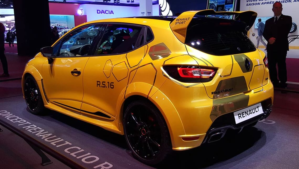 2018 renault clio rs.  clio renault clio rs 16 concept at the 2016 paris motor show on 2018 renault clio rs
