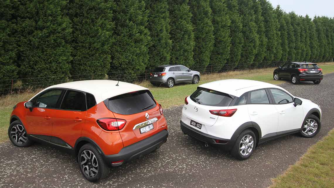 Cx 3 Vs Hrv >> Mazda CX-3 vs Honda HR-V vs Renault Captur vs Mitsubishi ASX 2015 Review | CarsGuide