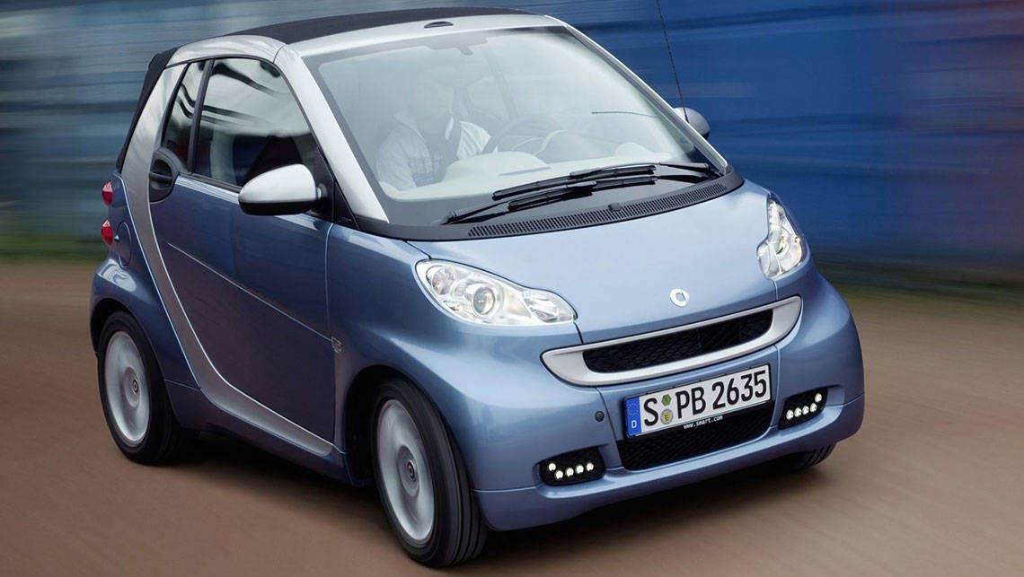 Smart ForTwo. Smart car driving shot. Photo: Supplied