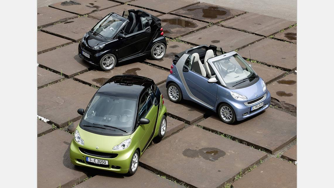 Smart ForTwo. Smart car group shot. Photo: Supplied