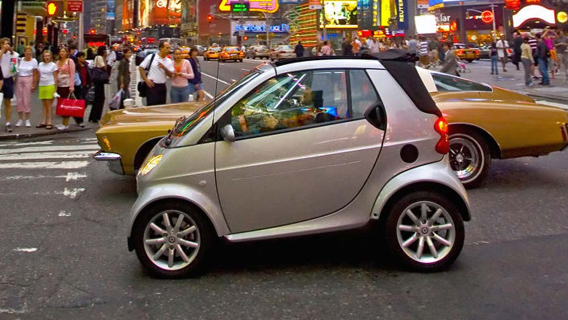 Smart ForTwo. Smart car driving in New York. Photo: Supplied