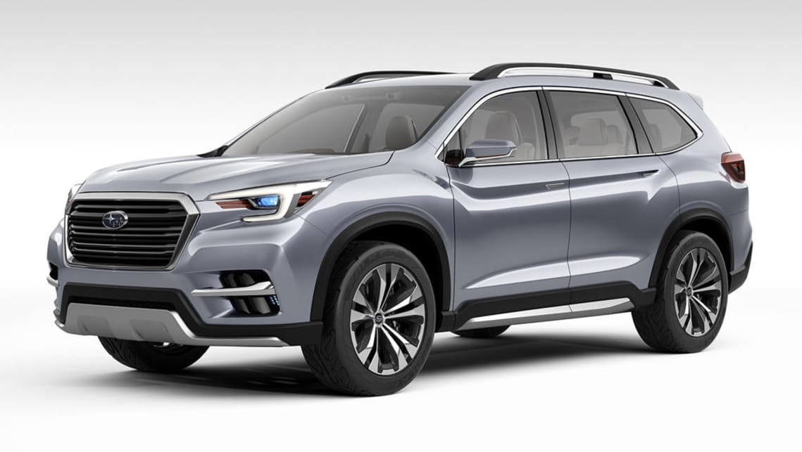 2018 Subaru Ascent Suv Concept Unveiled In New York Car News