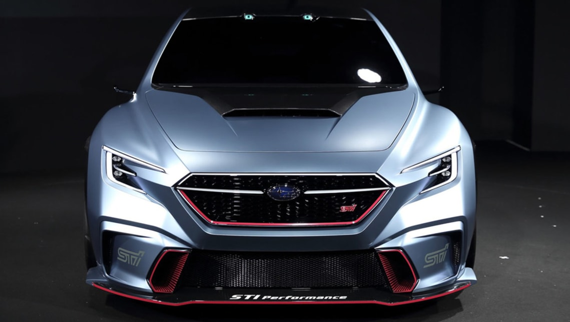 The STI-fettled concept also has a low-slung front splitter.