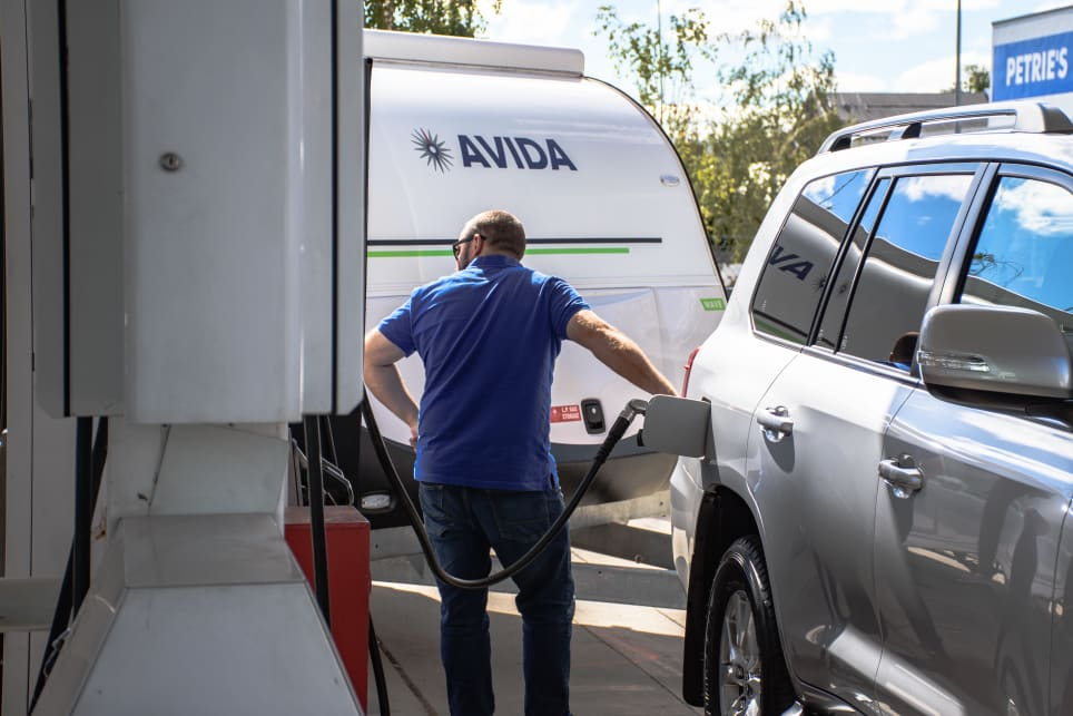 Even with access to a Supercharger, there's no beating the convenience of a conventional servo for refuelling the  'Cruiser. (image: Tom White)