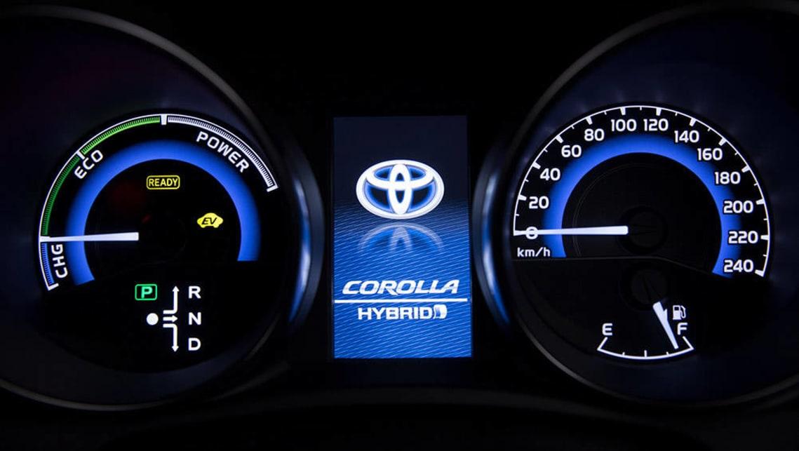 2016 Toyota Corolla Hybrid Instrument Display