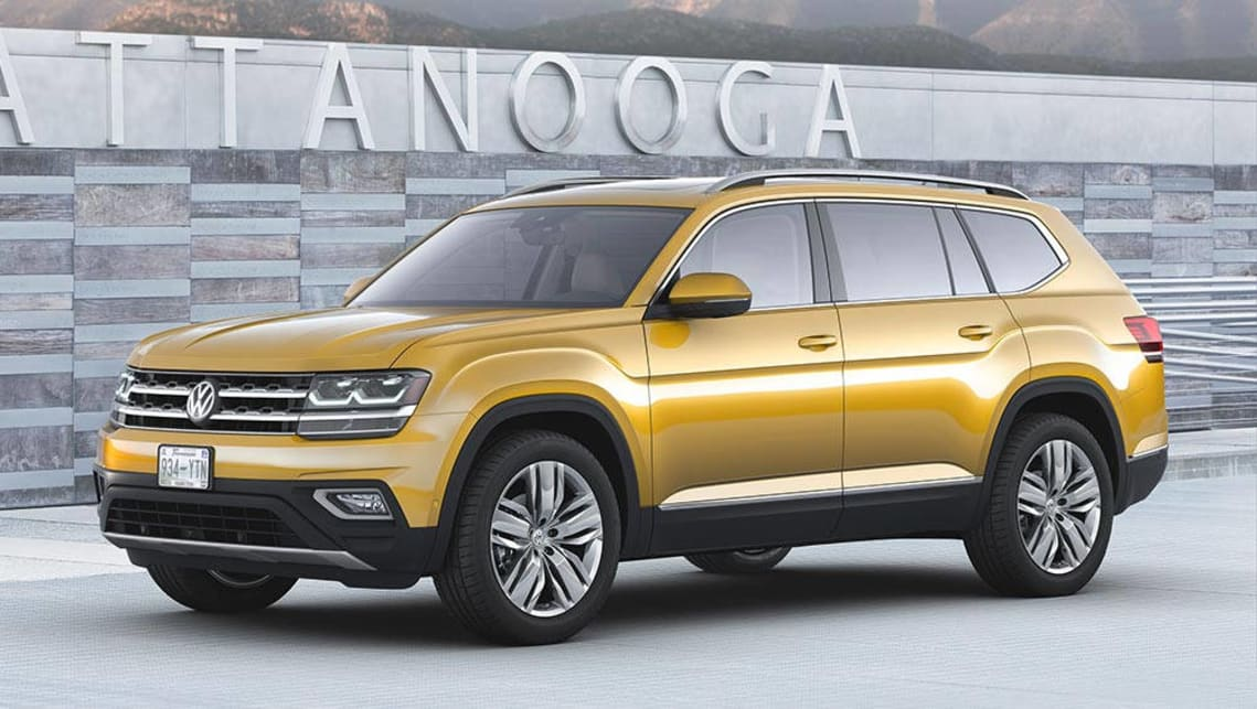 volkswagen atlas seven-seat suv revealed - car news | carsguide
