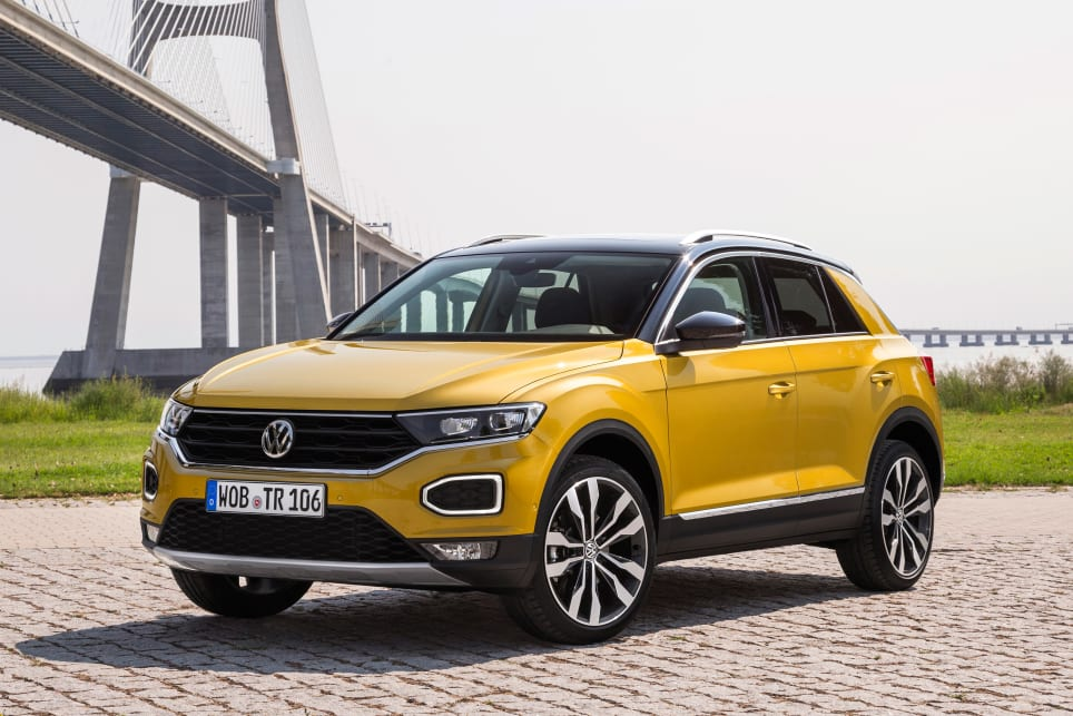 With its coupe roofline and sporty highlights, the T-Roc certainly looks good.