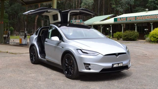 tesla model x 75d 2017 review snapshot carsguide. Black Bedroom Furniture Sets. Home Design Ideas
