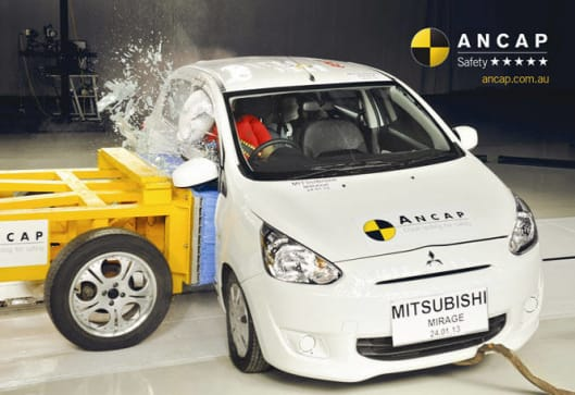 Five Points Auto Sales >> Mitsubishi Mirage gets top crash rating - Car News | CarsGuide