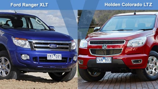 Ford Ranger Xlt Vs Holden Colorado Ltz Review Carsguide
