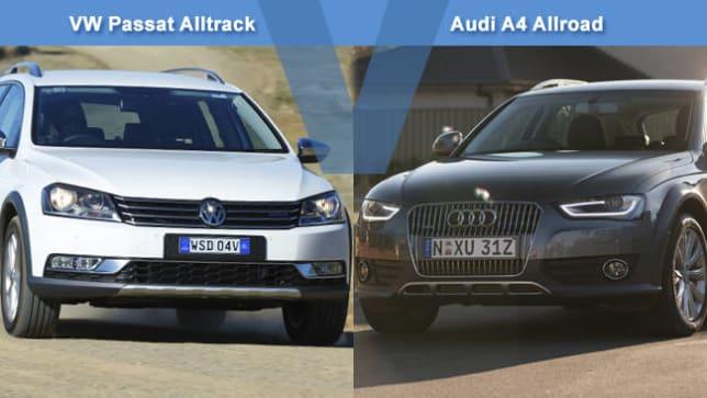 vw passat alltrack vs audi a4 allroad review carsguide