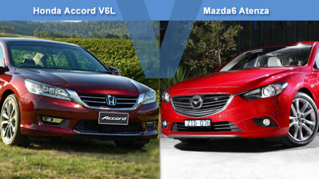 Honda Accord V6L Vs Mazda 6 2.2 Atenza