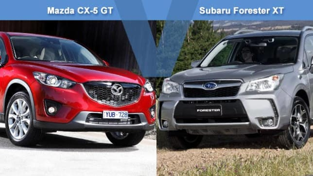 Mazda CX-5 2.5 GT AWD vs Subaru Forester XT Review | carsguide