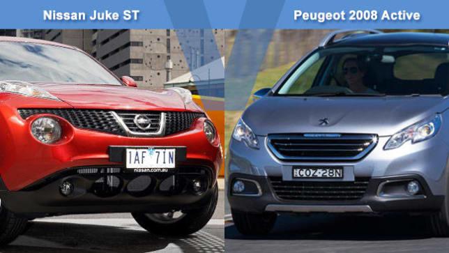 2008 Nissan Juke >> Nissan Juke St Vs Peugeot 2008 Active Review Carsguide