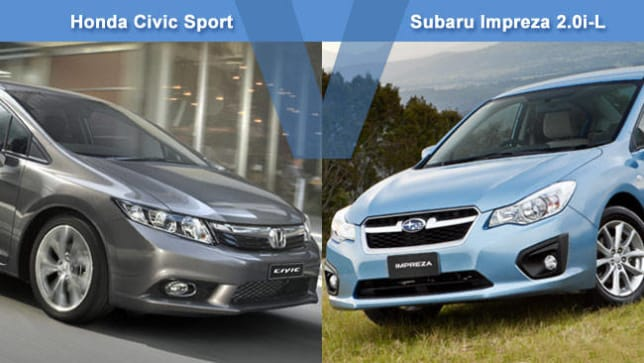 Honda Civic Sport vs Subaru Impreza 20iL Review  CarsGuide