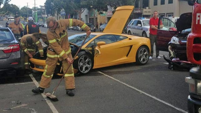 lamborghini super car wrecked on test drive - car news | carsguide