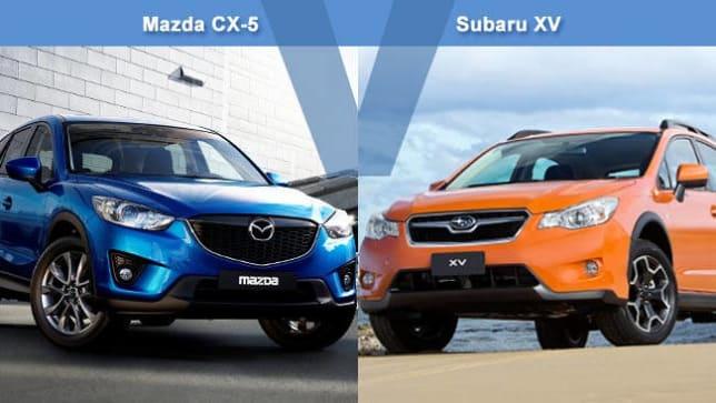 Mazda CX-5 vs Subaru XV Review   carsguide