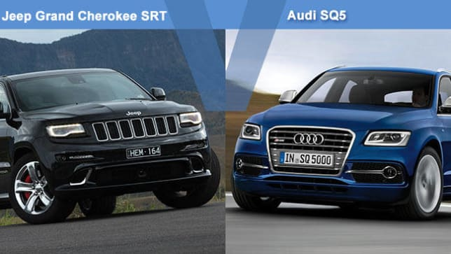 jeep grand cherokee srt vs audi sq5 review carsguide. Black Bedroom Furniture Sets. Home Design Ideas