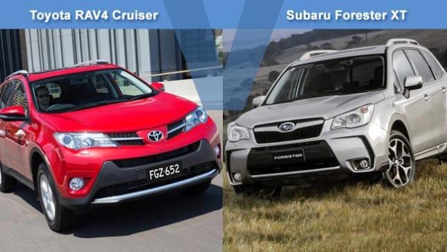 Toyota RAV4 Cruiser Vs Subaru Forester XT