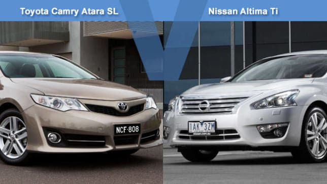 toyota camry atara sl vs nissan altima ti review carsguide. Black Bedroom Furniture Sets. Home Design Ideas