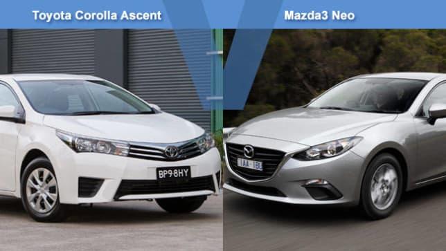 Corolla vs mazda 3