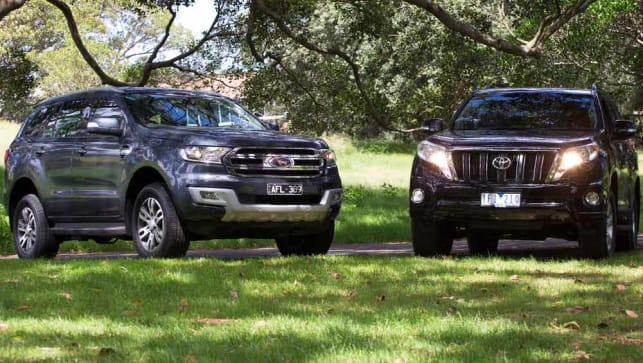 Ford Everest Vs Toyota Land Cruiser Prado Review Carsguide