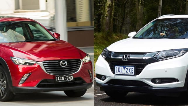 Cx 3 Vs Hrv >> Mazda Cx 3 Vs Honda Hr V Review Carsguide