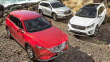 Mazda CX-9, Kia Sorento and Toyota Kluger 2016 review: 7-seater comparison