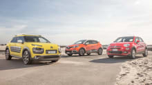 Citroen C4 Cactus, Fiat 500X and Renault Captur 2016 review